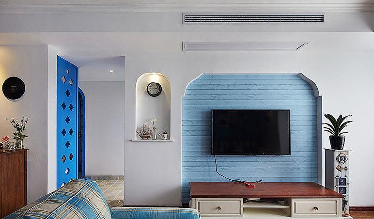 海底世界:浪漫温馨的110平米三室一厅家庭装修效果图