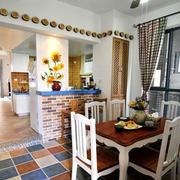 地中海风格餐厅飘窗装饰