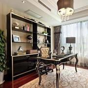 欧式精致书房桌椅设计