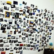 简约风格书房照片墙装饰