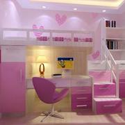 粉色系卧室简约吊顶设计
