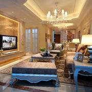 欧式奢华风格客厅精致沙发设计
