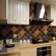 地中海风格厨房背景墙