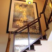 中式风格楼梯过道灯饰效果图