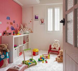 儿童房简约背景墙装饰