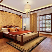 中式卧室地毯装饰效果图
