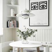 后现代白色系公寓书房设计