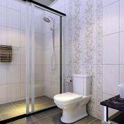 简约白色卫生间瓷砖装修