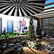 后现代风格别墅花园装饰