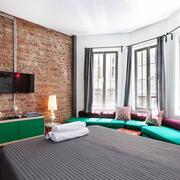 loft风格公寓单身背景墙