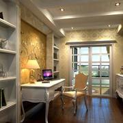 小型别墅简欧风格书房设计
