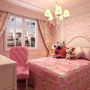 粉色系儿童房效果图