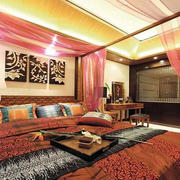 东南亚风格卧室沙发设计