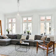 后现代风格客厅窗户效果图