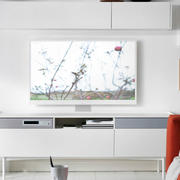 北欧纯色电视背景墙