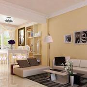 韩式简约风格客厅背景墙设计