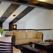 美式简约风格复式楼沙发设计