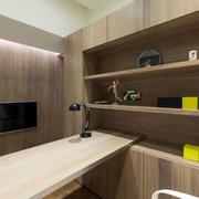 两室一厅原木电脑桌设计