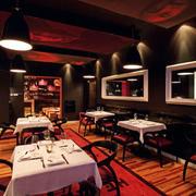 欧式简约风格西餐厅射灯