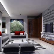 室内客厅电视墙设计