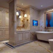 欧式奢华卫生间装饰