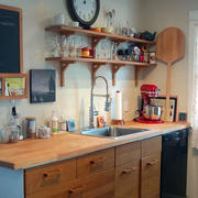 小型原木厨具置物架效果图