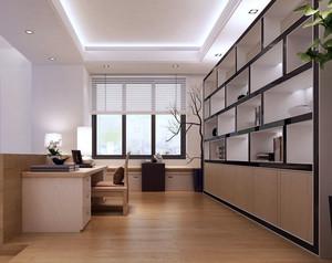 现代简约风格大型书房装修