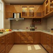 简约美式U型厨房设计