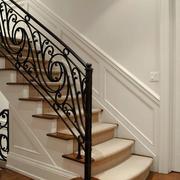 复式楼简约楼梯栅栏设计