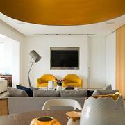 混搭风格公寓客厅圆顶吊顶