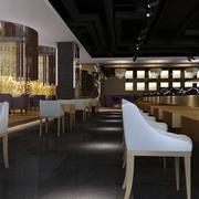 西餐厅大理石瓷砖装饰