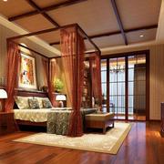 东南亚风格卧室地板效果图