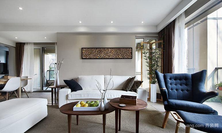 无可挑剔的精致北欧风格120平米家居装修效果图