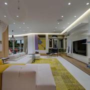 现代简约风格客厅吊顶设计