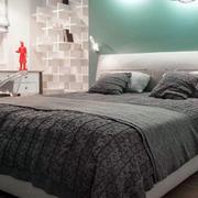 一室一厅卧室床头背景墙