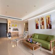 120平米房屋客厅沙发设计