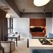 简约风格公寓客厅餐桌设计