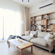 日式原木公寓客厅效果图
