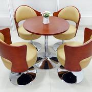 后现代风格原木奢华圆桌设计