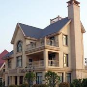 美式斜顶别墅效果图