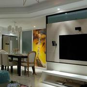后现代风格电视背景墙