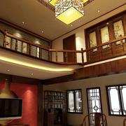中式复式楼灯饰设计
