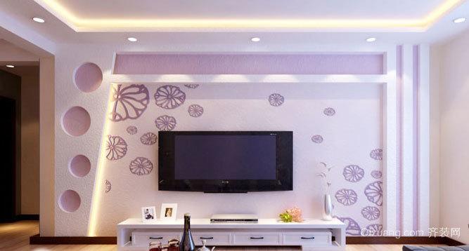 保护视力 环保型硅藻泥电视背景墙效果图
