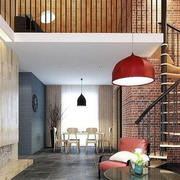 loft公寓客厅旋转楼梯装饰