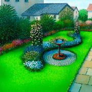 中式风格花坛装修设计