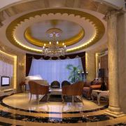 120平米客厅圆形吊顶设计