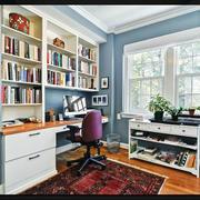 两室一厅书房背景墙设计