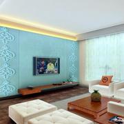 公寓简约风格客厅背景墙装饰
