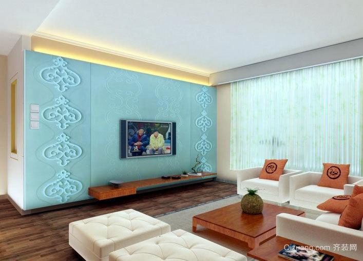 填补单调感的客厅背景墙效果图