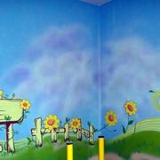 清新简约墙饰壁画装修